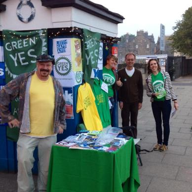 happy green campaigners