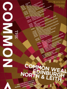 The latest events programme from Common Weal Edinburgh North and Leith