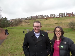 Jody and Janet at the Burn Braes