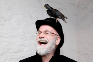 Terry Pratchett having a ball