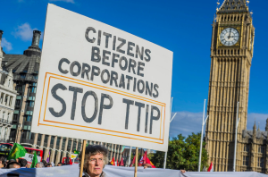 Stop TTIP protest