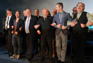 All teh menz - the Yes Scotland launch