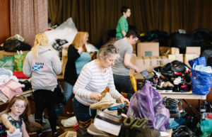 Volunteers at Massive Outpouring of Love