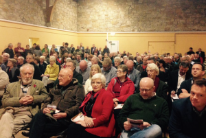 Huge turnout at Aberlady village hall to hear about the proposals