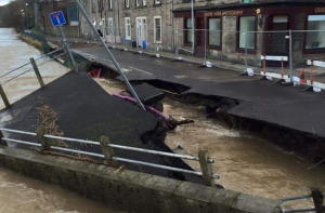 Some of the havoc wrought by flooding in Hawick