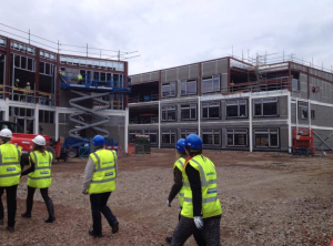 The new Portobello High School in construction on what used to be parkland