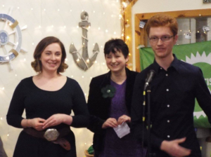 With Veronica Tudhope and Ross Greer, lead candidates for the West of Scotland region at the Ayrshire Greens fundraiser