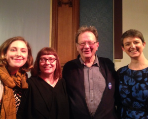 Me with Green campaigner and all round good egg Susan Rae, Larry Sanders and SGP co convener Maggie Chapman