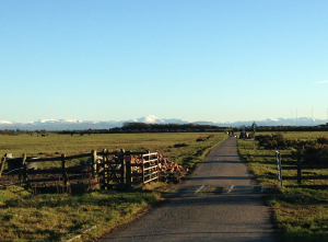 Looking south from Annan towards the gorgeous hills of Cumbria