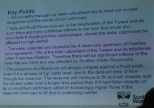 The most clearly understandable slide in the presentation from Scottish Water