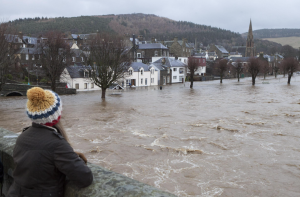 Flooding in Peebles over New Year