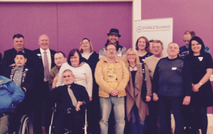 Some of the Enable crowd after our speed dating hustings