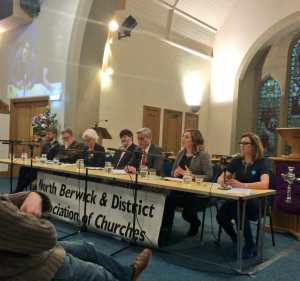 Answering a question on Trident at the North Berwick churches hustings