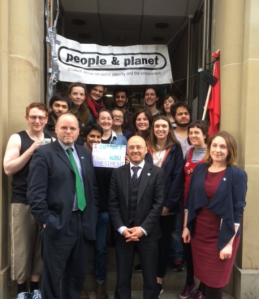 With Andy Wightman and Patrick Harvie supporting the brilliant P&P campaigners calling on Edinburgh University to #divesttherested