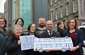 Campaigning for better buses with Patrick and gang