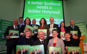 With fellow candidates at the launch of our manifesto in Edinburgh on Tuesday
