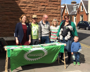 In Castle Douglas with the totally wonderful D&G Greens (and the littlest Greens Kester and Veya)