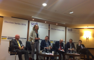Speaking at the SCDI hustings in Edinburgh where we talked infrastructure investment, tax and GM crops amongst other things