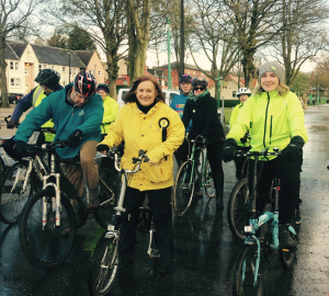 With Finlay Carson, Joan McAlpine and others for Cycling Dumfries