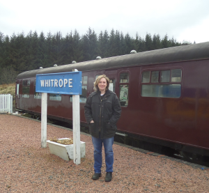 At Whitrope railway heritage centre in the deep hills between Hawick and Newcastleton