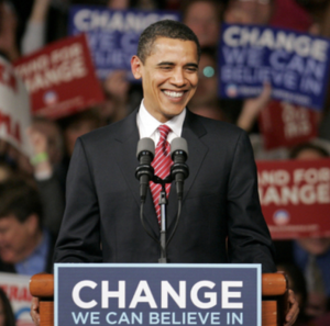 Obama's victory in 2008
